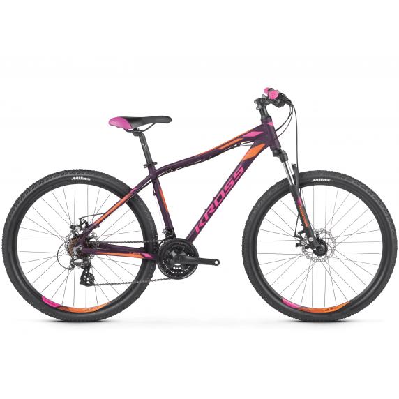 """KROSS MTB WOMAN Női hegyi kerékpár LEA 3.0 19"""" M 2021 - matt lila / rózsaszín / narancssárga"""