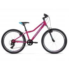 """KROSS JUNIOR Gyerek kerékpár Lea Jr 1.0 12"""" 2020 - fényes rózsaszín / kék / lila Előnézet"""