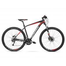 """KROSS MTB XC Hegyi kerékpár LEVEL 3.0 17"""" S 2020 - matt fekete / piros / fehér"""