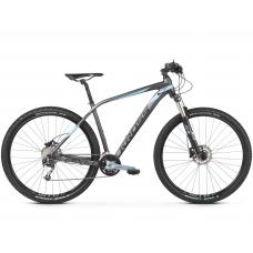 """KROSS MTB XC Hegyi kerékpár Level 5.0 17"""" S 2020 - matt grafit szürke / acélkék / fekete"""