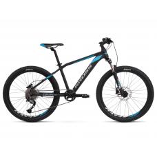 """KROSS JUNIOR Gyerek kerékpár Level Jr 3.0 14"""" 2020 - matt fekete / kék / ezüst Előnézet"""
