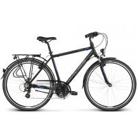 "KROSS Trekking Férfi kerékpár Trans 2.0 17"" S 2020 - matt fekete / kék / ezüst"