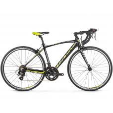 """KROSS JUNIOR Gyerek kerékpár Vento Jr 2.0 16"""" 2020 - fényes fekete / lime / grafit szürke"""