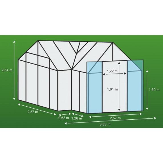 VITAVIA SIRIUS üvegház PC 6 mm - Ezüst