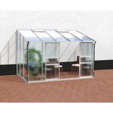 VITAVIA IDA üvegház 6500 matt üveg 4 mm + PC 6 mm - Ezüst Előnézet
