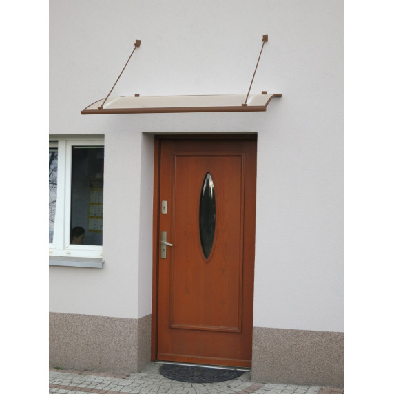 LANITPLAST bejárati tető TURKUS 140/85 - Barna