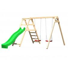 Gyerek játszótér csúszdával és hintákkal KARIBU FELIX 89339