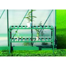 LANITPLAST alumínium állvány két polccal 126x50 - Zöld Előnézet