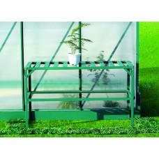 LANITPLAST alumínium állvány polccal 126x50 - Zöld Előnézet