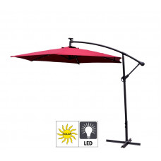 Aga EXCLUSIV 300 cm LED függő napernyő - Sötét piros Előnézet