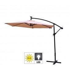 Aga EXCLUSIV 300 cm LED függő napernyő - Bézs Előnézet