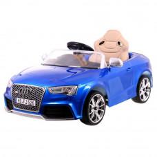 AUDI RS5 elektromos kisautó bőrüléssel - lakkozott kivitelben, kék Előnézet