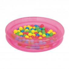 BESTWAY 51085 gyerekmedence labdákkal - rózsaszín Előnézet