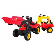 Pedálos traktor/kotrógép/ pótkocsival + tartozékokkal