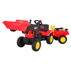 Pedálos traktor pótkocsival + tartozékokkal