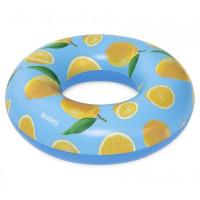 Felfújható kerek úszógumi citrom mintás 119 cm Bestway 36229