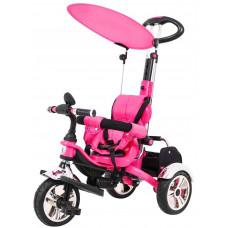 Inlea4Fun SporTrike CLASSIC AIR tricikli tolókarral és tetővel - Rózsaszín Előnézet