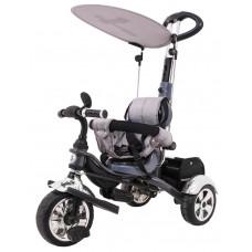 Inlea4Fun SporTrike CLASSIC EVA tricikli tolókarral és tetővel - Szürke Előnézet