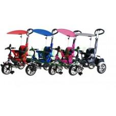 Inlea4Fun SporTrike CLASSIC AIR tricikli tolókarral és tetővel Előnézet