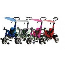 Inlea4Fun SporTrike CLASSIC EVA tricikli tolókarral és tetővel Előnézet