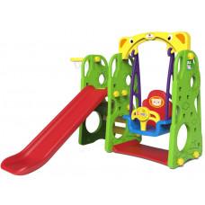Inlea4fun LION 3az1-ben kerti játszótér csúszdával és hintáva - zöld Előnézet